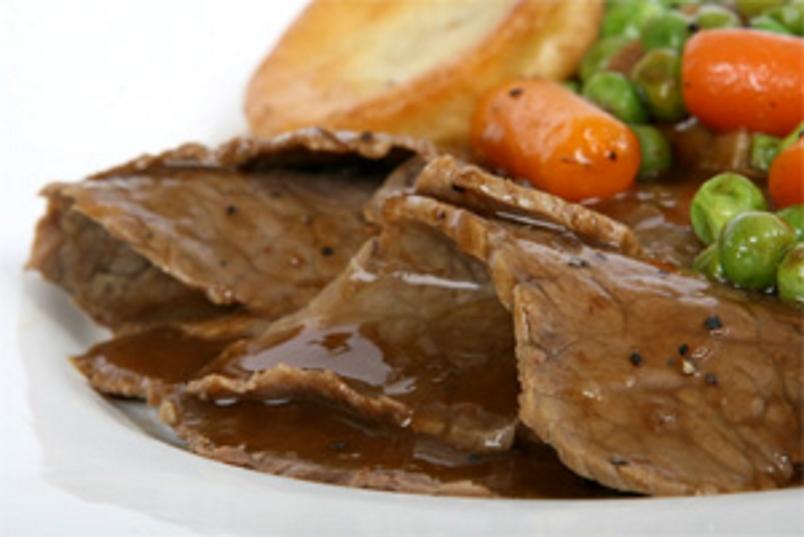 Sliced Roast Beef & Gravy – 3 Lb Pan