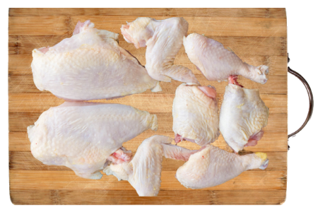 Fresh Cut Chickens (8 Pcs)