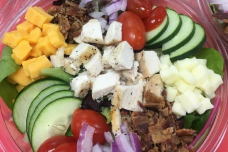 Homemade Fresh Grilled Chicken Club Salad