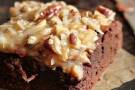 Baker Chad's Homemade German Chocolate Iced Brownies