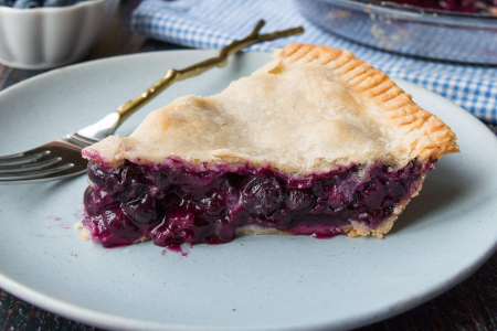 Home Baked Blueberry Pie