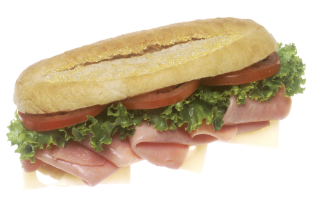 Homemade Fresh Ham Sub