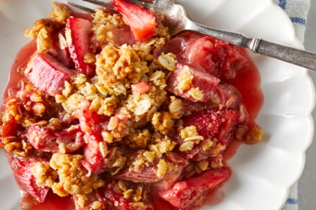 Baker Chad's Homemade Strawberry Rhubarb Cobbler