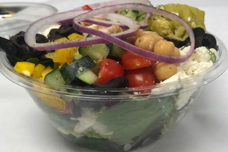 Homemade Fresh Mediterranean Grilled Chicken Salad