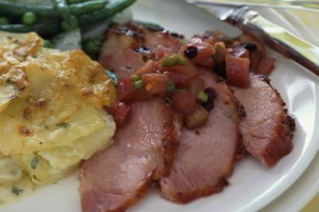 Grab & Go Smoked Ham Meal For 1