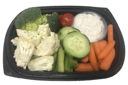 Fresh Vegetable Snack Pack With Dill Dip – 2 People